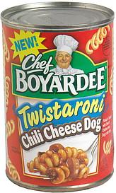 Chef Boyardee Twistaroni Chili Cheese Dog 15 0 oz Nutrition Information ShopWell