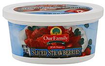 frozen sliced strawberries with sugar