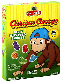 Our Family Fruit Flavored Snacks Curious George, Assorted ...