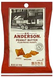 Hk Anderson Pretzel Nuggets Filled Peanut Butter