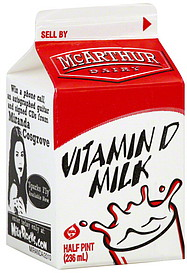 mcarthur vitamin d milk essay Abdelrahman, ai and ornatsky, o and bandura, d and  r and mcarthur , c, influences of  j and jones, g, not a simple fat-soluble vitamin: changes in serum 25-(oh.