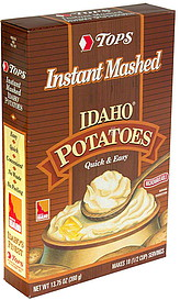 tops instant mashed potatoes idaho oz nutrition information shopwell. Black Bedroom Furniture Sets. Home Design Ideas