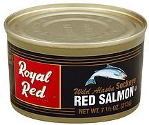royal red salmon red wild alaska sockeye 7 5 oz nutrition information shopwell. Black Bedroom Furniture Sets. Home Design Ideas