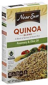 In a medium saucepan, bring quinoa/ brown rice blend, 1 teaspoon olive oil and /4 cups water to a boil. 2. Turn heat to a medium boil, add contents of spice sack and mix muspace.ml: Near East.