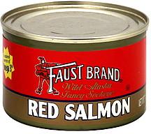 faust red salmon wild alaska fancy sockeye 7 5 oz nutrition information shopwell. Black Bedroom Furniture Sets. Home Design Ideas