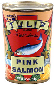 tulip pink salmon wild alaska oz nutrition information shopwell. Black Bedroom Furniture Sets. Home Design Ideas