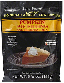 Sans Sucre Pie Filling and Pudding Mix