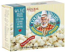 Cousin Willie's Microwave Popcorn