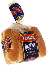 taystee hot dog buns 8 0 ea nutrition information shopwell. Black Bedroom Furniture Sets. Home Design Ideas