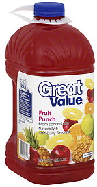 Great Value Fruit Punch 128.0 oz Nutrition Information | ShopWell