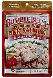 bumble bee pink salmon premium wild 5 0 oz nutrition information shopwell. Black Bedroom Furniture Sets. Home Design Ideas