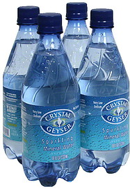 Crystal Geyser Sparkling Mineral Water 4 0 Ea Nutrition