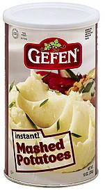 gefen mashed potatoes instant 10 0 oz nutrition information shopwell. Black Bedroom Furniture Sets. Home Design Ideas