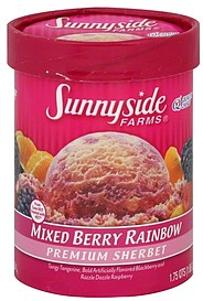 Sunnyside Farms Sherbet Premium, Mixed Berry Rainbow 1.75 qt Nutrition ...