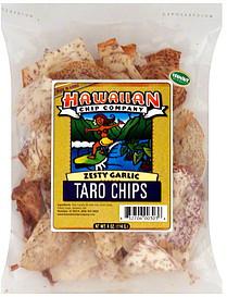 Hawaiian Chip Company Taro Chips Zesty Garlic 4.0 oz Nutrition ...