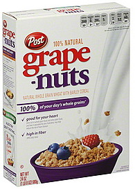 Grape Nuts Cereal 24 0 Oz Nutrition Information Shopwell