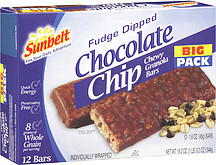 Sunbelt Fudge Dipped Chocolate Chip Granola Bar