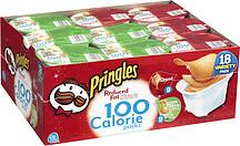 Pringles 100 Calorie Variety Pk 63 Oz Tubs Potato Chips