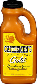 Cattlemen s sauce gold barbecue 38 0 oz nutrition information