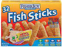 fisher boy fish sticks 32 ct 16 0 oz nutrition information