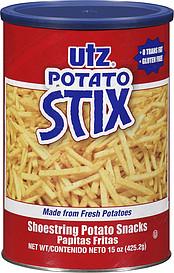 Utz Potato Stix Shoestring Potato Snacks 15 0 Oz Nutrition
