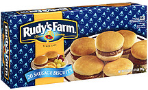 Rudy's Farm Sausage Biscuits