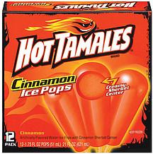 deluxe hot tamales cinnamon ice pops w creamy sherbet