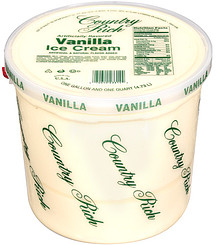 Country Rich Ice Cream Vanilla 1.25 Gal Nutrition Information ...