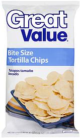 Great Value Chips Tortilla Bite Size 13 0 Oz Nutrition