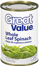 Great Value Spinach