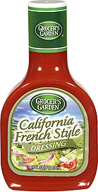 Grocer 39 S Garden Dressing California French Style 16 0 Oz Nutrition Information Shopwell