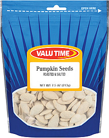 how many calories in pumpkin seeds roasted salted