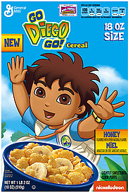 General Mills Cereal Go Diego Go!, Honey Flavored 18.0 oz ...