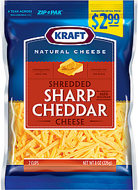 carbs in shredded cheese