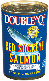 double q salmon red sockeye wild caught alaskan oz nutrition information shopwell. Black Bedroom Furniture Sets. Home Design Ideas