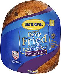 Deep frying boneless turkey breast