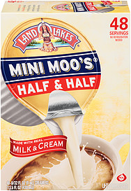 Land O Lakes(R) Half & Half Mini Moo's 48.0 Ct Nutrition Information | ShopWell