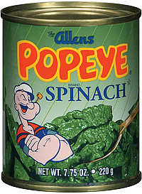 spinach 775 oz nutrition information shopwell