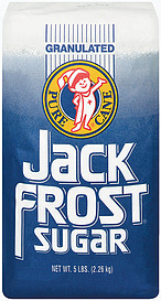 GRANULATED JACK FROST SUGAR 8/5 lbs
