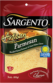 Sargento(R) Artisan Blends Cheese Parmesan Shredded 3.0 Oz ...