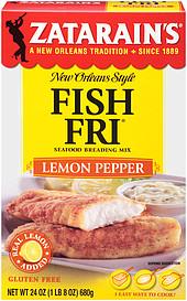 Zatarain 39 s breading mix fish fri lemon pepper seafood 24 0 for Zatarain s fish fri