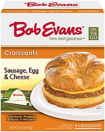 Bob Evans Croissants Sausage Egg & Cheese 14.6 Oz..