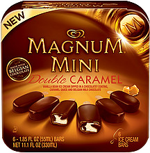 Magnum Ice Cream Bars Mini, Double Caramel 6.0 ea Nutrition ...
